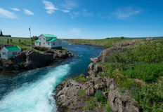 Snaefellsnes peninsula. River in Snaefellsnes peninsula, Iceland stock photos