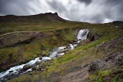 Snaefellsnes peninsula. Waterfalls in the stunning Snaefellsnes peninsula stock image