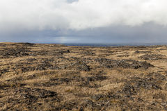 Snaefellsnes volcanic coastline on a cloudy day. Royalty Free Stock Image