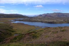 Snaefellsnespenisula in IJsland Stock Foto