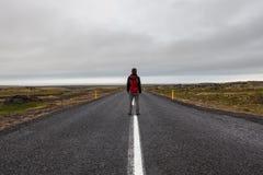 Snaefellsness, Islanda - 22 luglio 2016 Uomo Immagine Stock Libera da Diritti