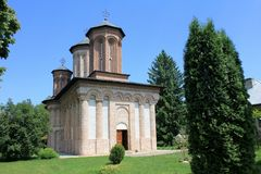 Snagov kloster - kyrkan Arkivbilder
