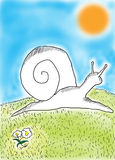snail stock illustrationer