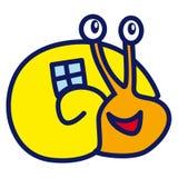 Snail. Stylized cartoon snail - vector illustration Royalty Free Stock Photography