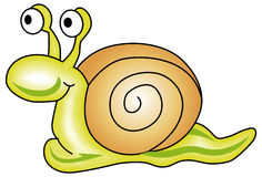 Snail. Vectorial illustration of snail. Isolated on a white background. EPS file available Stock Photo