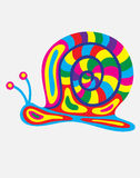 Snail abstract colorfully Stock Photography