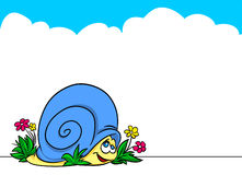 Snail Album illustration Royalty Free Stock Image
