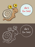 Snail cartoon Stock Images