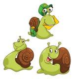 Snail Cartoon Illustration Royalty Free Stock Photography
