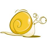 Snail character Royalty Free Stock Image