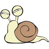 Snail character Royalty Free Stock Photos