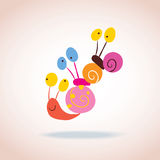 Snail characters Royalty Free Stock Photos