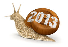Snail 2013 (clipping path included). Snail 2013. Image with clipping path Stock Photos