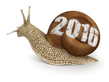 Snail 2016 (clipping path included) Stock Image