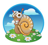 Snail on the color background Stock Illustration