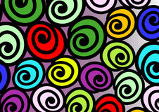 Snail colorful. Background, editable. can use like baby wallpaper or wrap background Royalty Free Stock Image