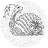 Illustration of a snail. Stock Photography