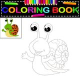 Snail coloring book. Illustration of snail coloring book Stock Photo