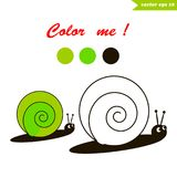 Snail coloring book stock illustration