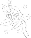 Snail coloring page Royalty Free Stock Photo