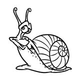 Snail coloring pages Royalty Free Stock Photo