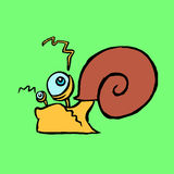 Snail crawling somewhere vector illustration Royalty Free Stock Photos