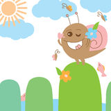 Snail crazy monster sun bath Royalty Free Stock Images