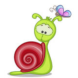 Snail. Cute Snail isolated on a white background Stock Images