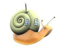 Snail with eco home Royalty Free Stock Photo