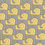 Snail And Elephant Pattern Royalty Free Stock Images