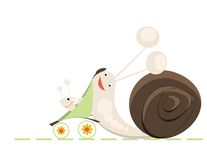 Snail family Royalty Free Stock Photography