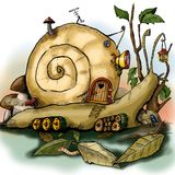Snail of fantasy Royalty Free Stock Images