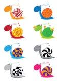 Snail funny set Stock Image