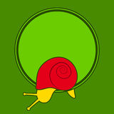 Snail with green frame Royalty Free Stock Image