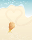 Snail and heart Stock Photo