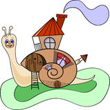 Snail-house Stock Images
