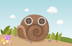 Snail house Royalty Free Stock Images