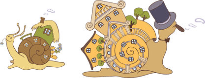Snail houses royalty free illustration
