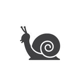 Snail icon vector, filled flat sign Stock Photography