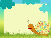 Snail illustration Royalty Free Stock Image