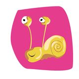 Snail Illustration (vector) royalty free stock photos