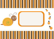 Snail & Ladybug Card Background Royalty Free Stock Photo