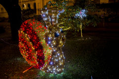 Snail of lights in Salerno Stock Image