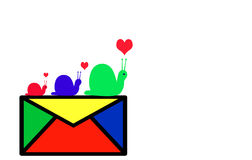 Snail mail Lizenzfreies Stockfoto