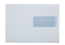 Snail Mail envelop, paper, isolated on white Stock Image