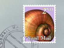 Snail mail envelope Royalty Free Stock Image
