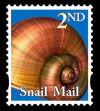Snail mail stamp Royalty Free Stock Image