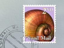 Snail mailumschlag Lizenzfreies Stockbild