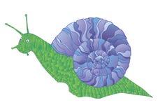 Snail på vit bakgrund Arkivbilder