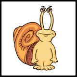 Snail på vit bakgrund Snigelsymbol royaltyfri illustrationer